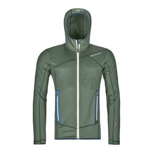 OUTLET - Fleece Ortovox Fleece Hoody | Green Forest M