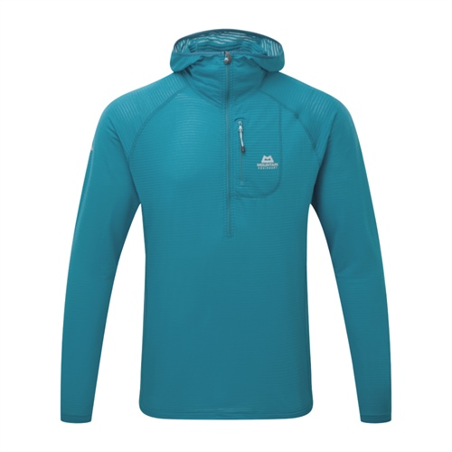 OUTLET - Fleece Mountain Equipment Solar Eclipse Hooded Zip Tee | Tasman Blue M