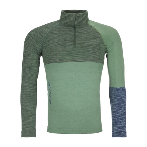 Termoprádlo Ortovox 230 Competition Zip Neck | Green Isar Blend S