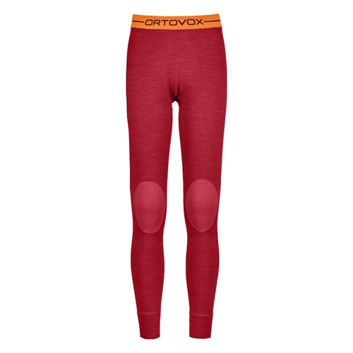 OUTLET - Termoprádlo Ortovox W's 185 Rock'n'Wool Long Pants | hot coral blend S