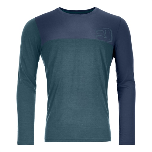 OUTLET - Termoprádlo Ortovox 150 Cool Logo Long Sleeve | mid aqua XL