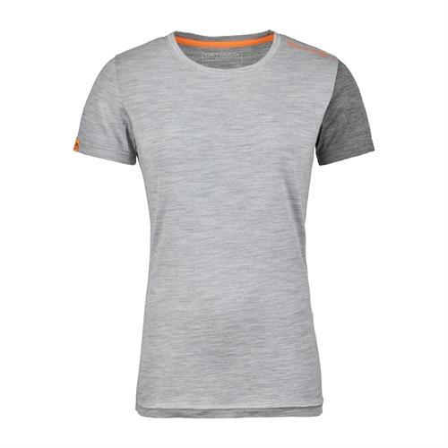 OUTLET - Termoprádlo Ortovox W's 185 Rock'n'Wool Short Sleeve | grey blend M