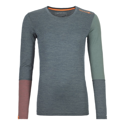 Termoprádlo Ortovox W's 185 Rock'n'Wool Long Sleeve | Green Forest Blend M