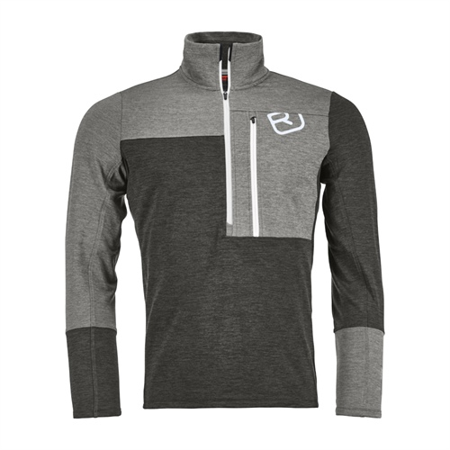 Fleece Ortovox Fleece Light Zip Neck | Grey Blend XL