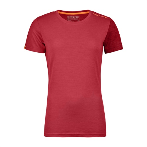 OUTLET - Termoprádlo Ortovox W's 185 Rock'n'Wool Short Sleeve | hot coral XS