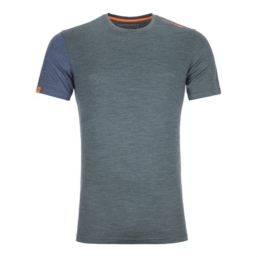 Termoprádlo Ortovox 185 Rock'n'Wool Short Sleeve | Green Forest Blend M