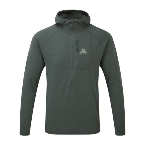OUTLET - Fleece Mountain Equipment Solar Eclipse Hooded Zip Tee | Moorland Slate L