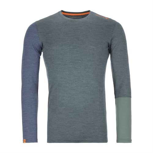 Termoprádlo Ortovox 185 Rock'n'Wool Long Sleeve | Green Forest Blend M