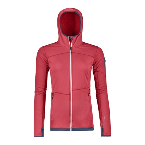 OUTLET - Fleece Ortovox W's Fleece Light Hoody High | hot coral L