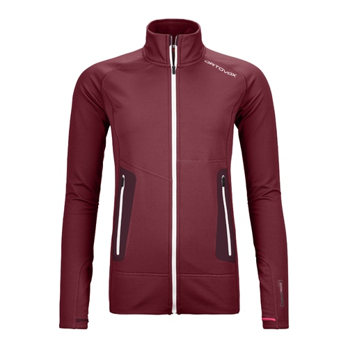 Fleece Ortovox W's Fleece Light Jacket | Dark Blood XS