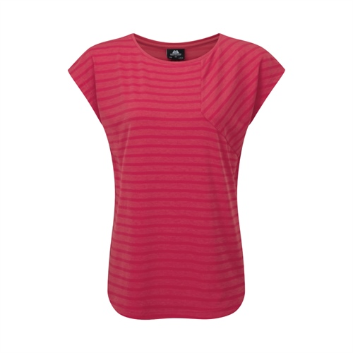 OUTLET - Tričko Mountain Equipment W's Silhouette Tee | Virtual Pink stripe 12