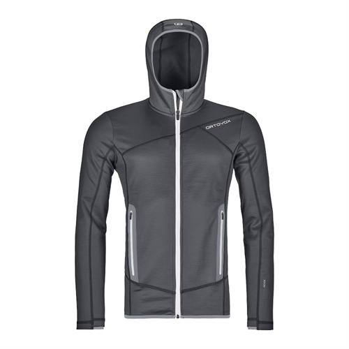 Fleece Ortovox Fleece Hoody | Black Steel S