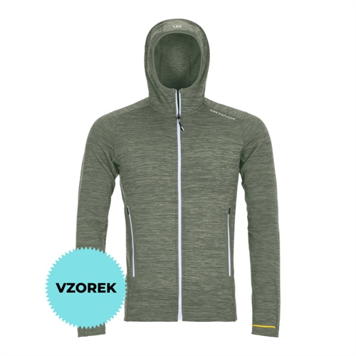 OUTLET - Fleece Ortovox Fleece Light Melange Hoody | green forrest blend M