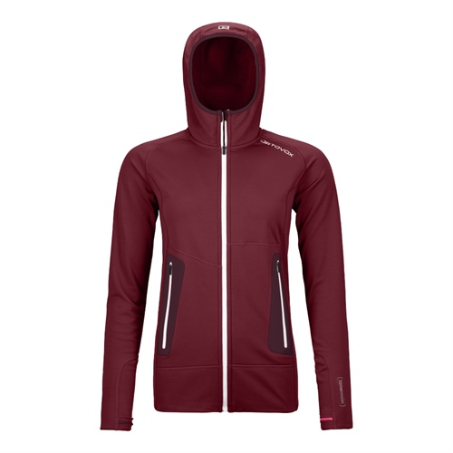 Fleece Ortovox W's Fleece Light Hoody | Dark Blood XS