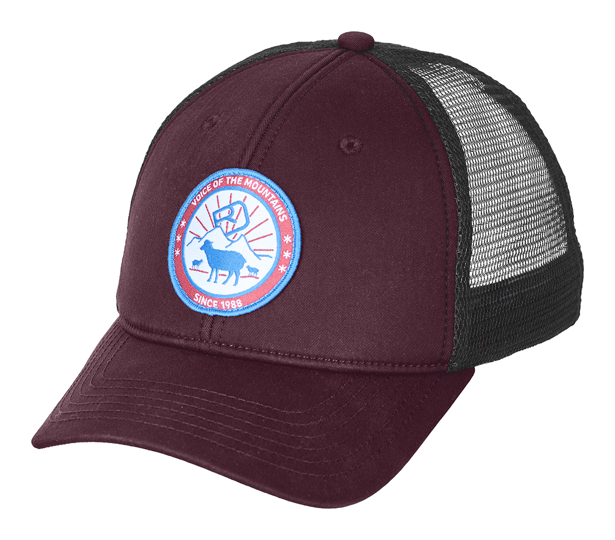 Kšiltovka Ortovox Stay In Sheep Trucker Cap  Dark Wine
