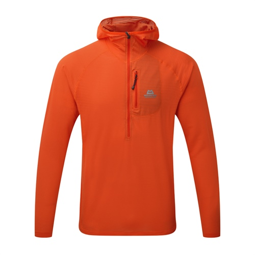 OUTLET - Fleece Mountain Equipment Solar Eclipse Hooded Zip Tee | Cardinal Orange XL