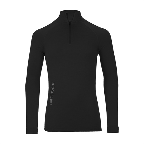 Termoprádlo Ortovox Merino Competition Long Sleeve Zipper | Black Raven S