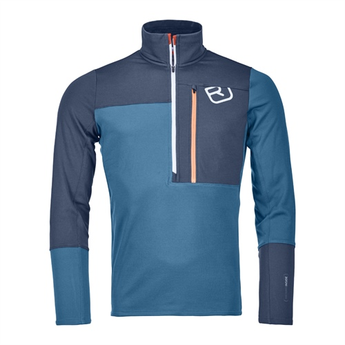 Fleece Ortovox Fleece Light Zip Neck | Blue Sea S
