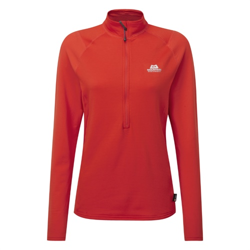 Fleece Mountain Equipment W's Eclipse Zip T | cardinal orange 10