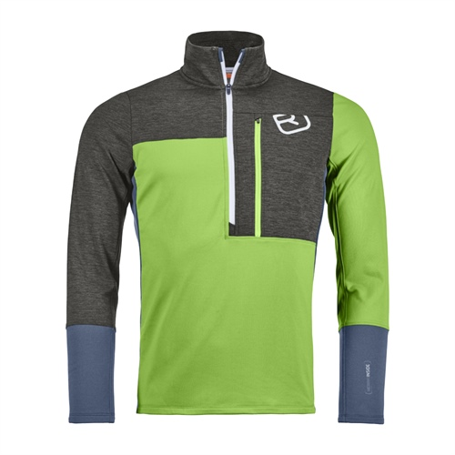 Fleece Ortovox Fleece Light Zip Neck | Matcha Green S