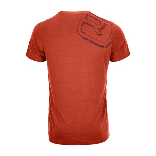 Termoprádlo Ortovox 150 Cool Big Logo T-Shirt  | crazy orange M
