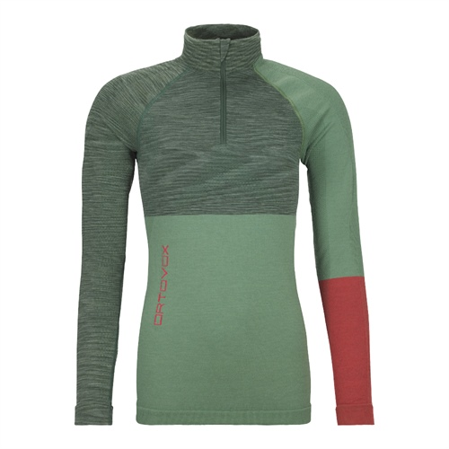 Termoprádlo Ortovox W's 230 Competition Zip Neck | Green Isar Blend XS