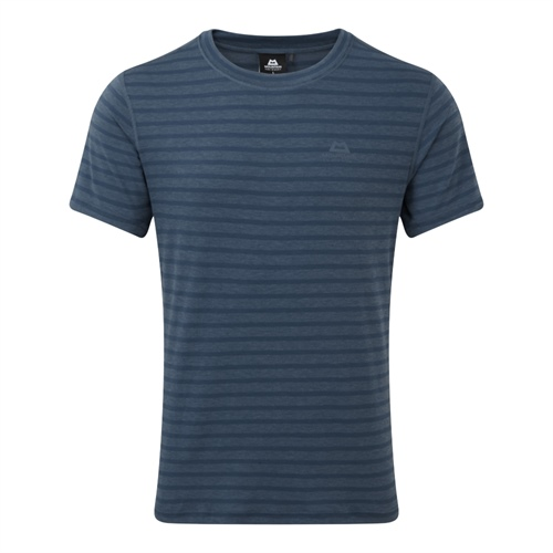 Tričko Mountain Equipment Groundup Tee | Denim Blue Stripe L