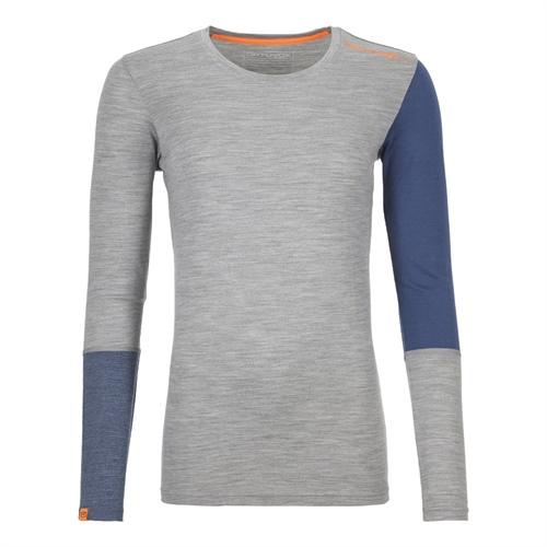 Termoprádlo Ortovox W's 185 Rock'n'Wool Long Sleeve | Grey Blend M