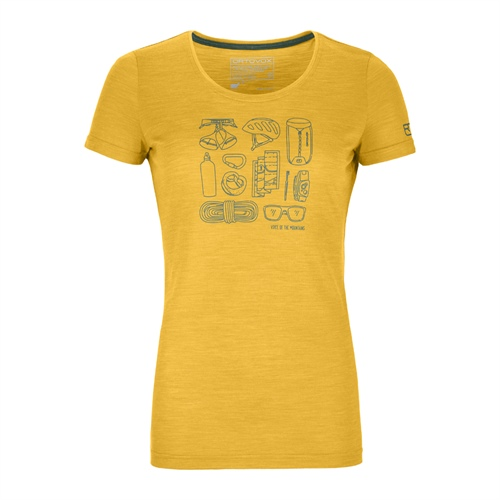 Termoprádlo Ortovox W's 120 Cool Tec Puzzle T-Shirt | Yellowstone Blend L