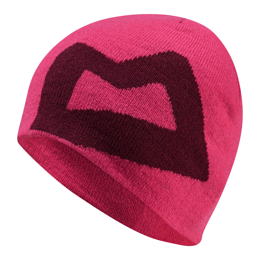 OUTLET - Čepice Mountain Equipment W's Branded Knitted Beanie  Vpink/Cranberry