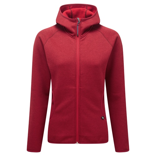 Fleece Mountain Equipment W's Lantern Hooded Jacket | Barbados Red 12
