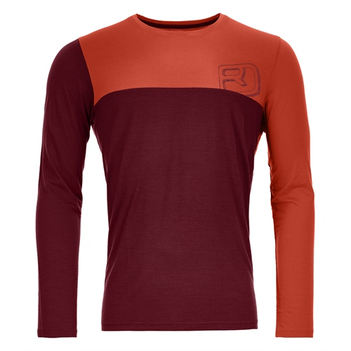 OUTLET - Termoprádlo Ortovox 150 Cool Logo Long Sleeve | dark blood XL