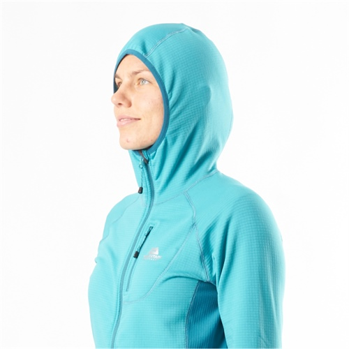 Fleece Mountain Equipment W's Eclipse Hooded Jacket | Pool Blue/Tasman 14