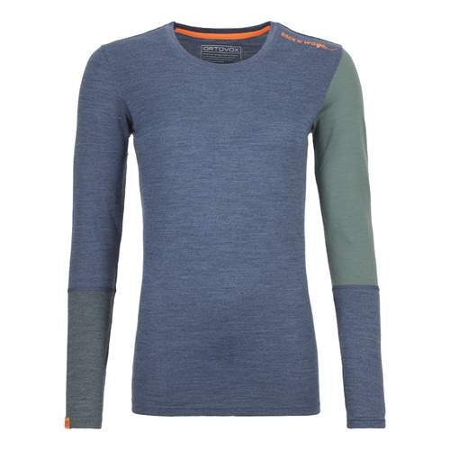 Termoprádlo Ortovox W's 185 Rock'n'Wool Long Sleeve | Night Blue Blend M