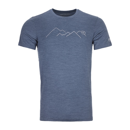 Termoprádlo Ortovox 185 Merino Mountain TS | Night Blue Blend L
