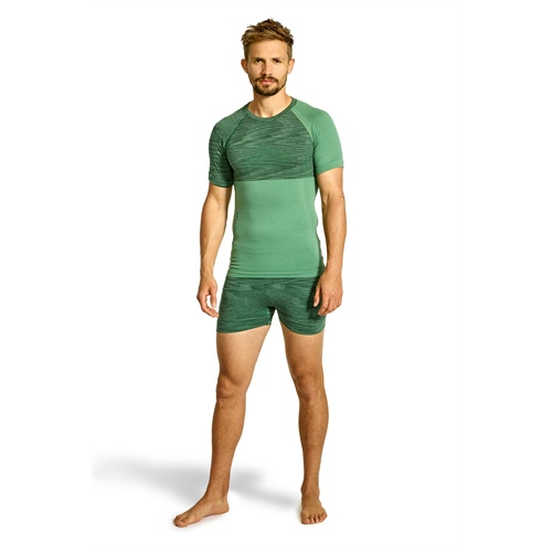 Termoprádlo Ortovox 230 Competition Short Sleeve | Green Isar Blend L